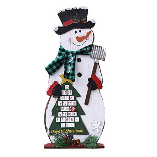 fuguzhu Fabric Christmas Advent Calendar, 3D Santa Advent Calendar with 24 Days Pockets, Christmas Countdown Hanging Ornaments for Home Office Door Wall Decorations (b)
