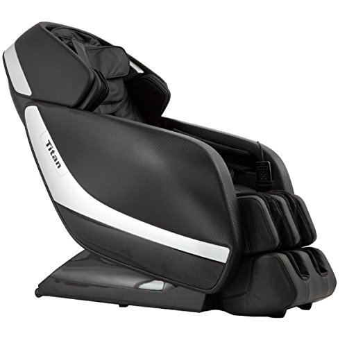 Titan PRO Jupiter XL A Massage Chair, Black, Zero Graivty Recline System, 3D MassageTechnology, L-Track Massage, Rolling and Scrapping Dual Action Foot Massage, 9 Pre-Set Program