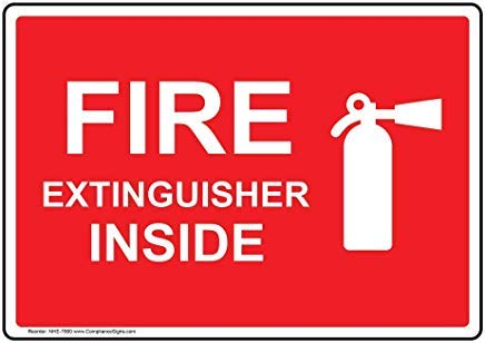 Wendana Brandblusser bord, aluminium, metalen waarschuwingsborden, privébord, notitiebord, 8