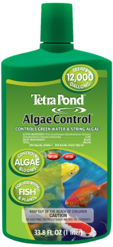 TetraPond Algae Control Treatment For Use With Fish & Plants, 33.8-Ounce