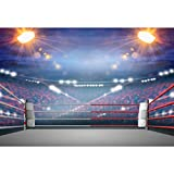 CSFOTO 7x5ft Arena Photogarphy Backdrop for Boxing Match Wrestling Match Arena Background Boxing Gym Kung Fu Gym Gymnasium Decor Flashlight The Crowd Adults Portrait Photo Studio Props