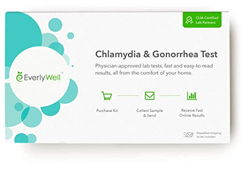 Everlywell Chlamydia and Gonorrhea Test - at Home - CLIA-Certified Adult STD Test - Discreet, Accurate Urine Analysis - Results Within Days - Not Available in NY, NJ, RI