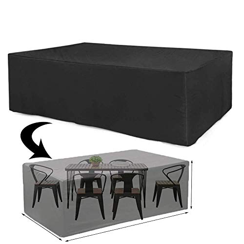 CAIYUAN Cover for Garden Furniture for Rectangular Garden Table Furniture Sets Waterproof, winterproof Windproof, UV-Resistant, Rainproof Oxford Fabric (210D Oxford,12781.822.8in