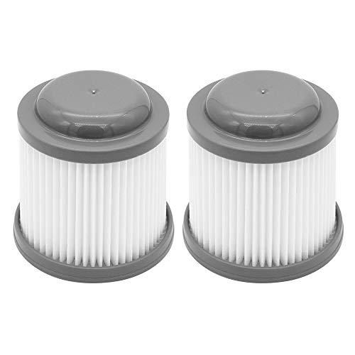DingGreat 2Pcs Filtro Plisado, filtros de Repuesto para aspiradora giratoria Black & Decker PVF110, PHV1210, PHV1410, PHV1810, Compatible con la Parte # 90552433