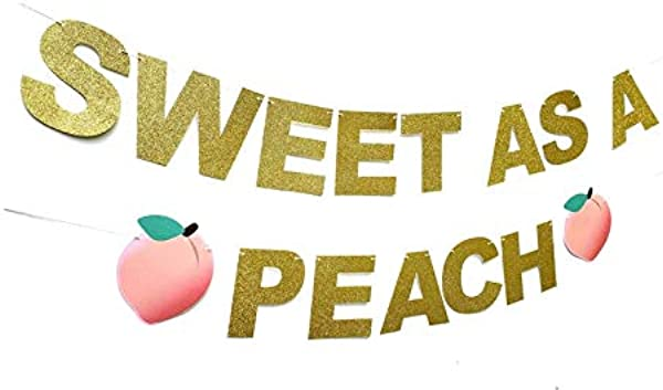 Sweet As Peach Banner For Birthday Party First Bday Cake Smash Garland Georgia Peaches 1