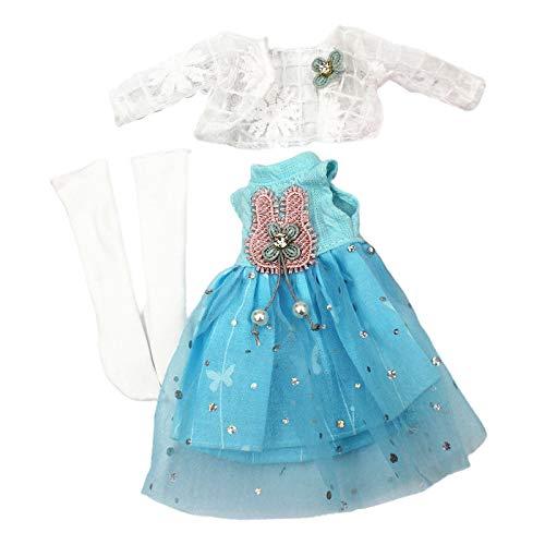 Exquisita ropa de muñeca hecha a mano accesorios de muñeca para Barbi Blyth 30 cm muñeca muñecas accesorios vestidos ropa vestido fiesta trajes para niñas muñeca