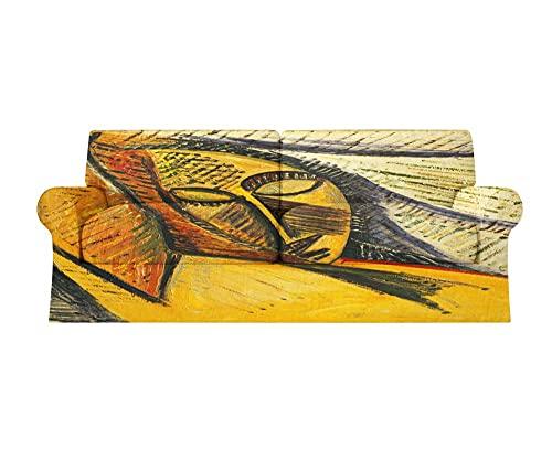 Fundas Sofa elasticas 1/2/3/4 plazas Cubre Sofa Fundas para Sofa Decorativas Fundas de Sofa Ajustables Fibra superfina 1 Pieza(Picasso Mujer Abstracta,4 plazas:235cm-300cm)
