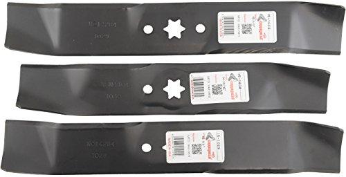 Lot de 3, Made in USA, lames de rechange pour MTD 7420611, 9420611, 7420612, 9420612. A deux 16 lames de 1/10,2 cm, One 14 3/40,6 cm.