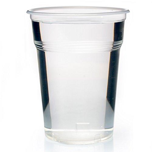 400 x bicchieri graduati 0, 5L plastica trasparente extra stabile tazza plastica bicchieri birra tazza 500 ml