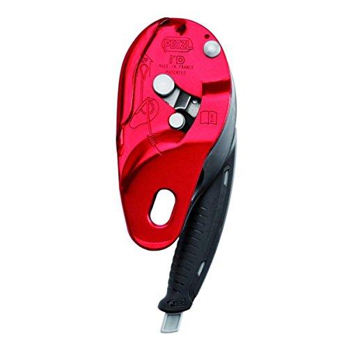 Petzl Erwachsene Abseilgerät I'D L, Rot, 11,5-13 mm