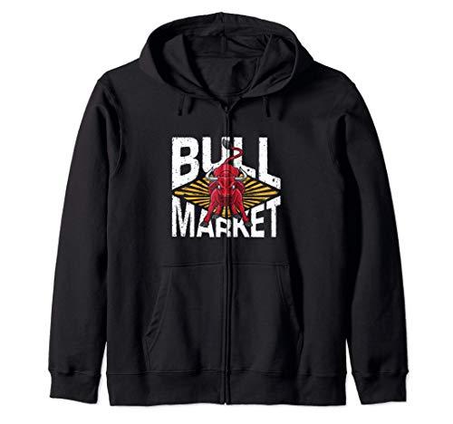 Feeling Bullish Stock Market Trader Bull Traders Trading Sudadera con Capucha