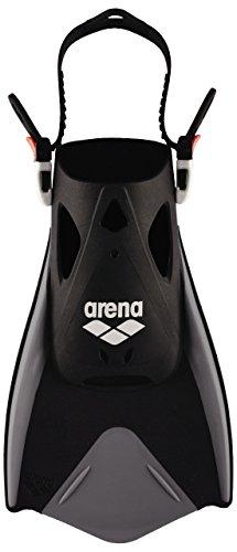 arena Unisex Schwimmflossen Fitness zum Training der Beine für Pool und Meer, schwarz (Black-Silver), L