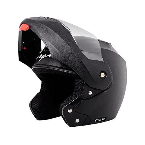 Vega Crux Flip-up Helmet (Black, M)