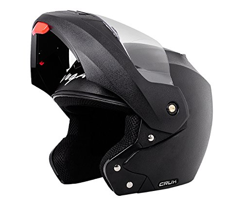 Vega Crux Flip-up Helmet (Black, M)