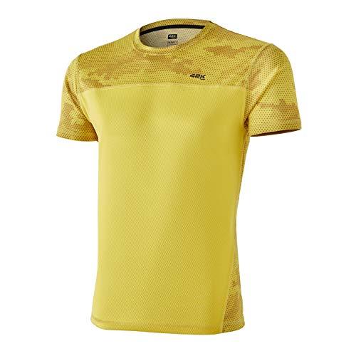 42K Running - Camiseta técnica 42K MIMET Hombre Ambar Yellow Hexagon M