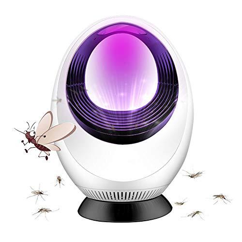Lampada Anti Zanzara, Mosquito Killer Lamp, Lampada Antizanzara Elettrica, Lampada Antizanzare, LED Lampada Repellente, per Casa,Interno Mosquito Killer (Bianco)
