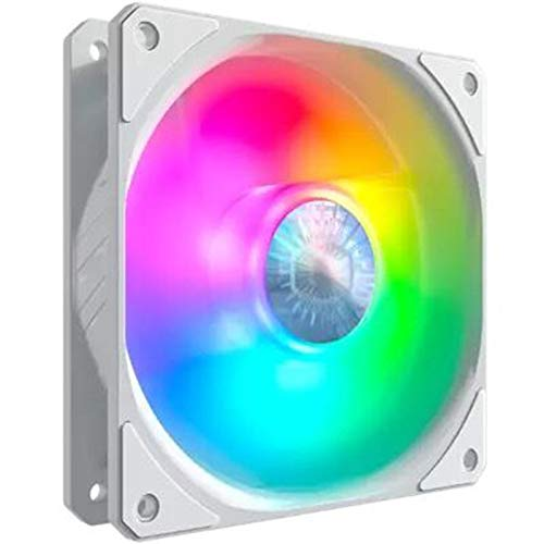 Nrpfell ARGB 120Mm Caja de la Computadora Ventilador de RefrigeracióN de CPU EdicióN Blanca RGB 5V Ventiladores Silenciosos Direccionables PWM