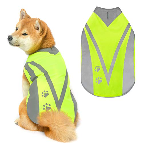 PUPTECK Safety Reflective Dog Vest - High Visibility Dog Hunting Vest, Keep Dogs Visible Outdoor Activity Day and Night Walking, Breathable Dog Jacket for Small Medium and Large Dogs