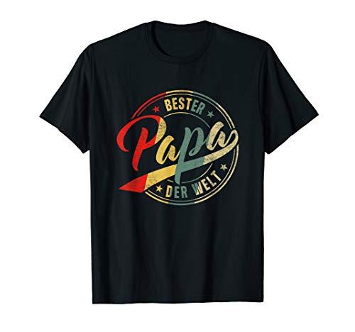 Herren Vintage Bester Papa Der Welt Retro Vatertag Vater Geschenk T-Shirt