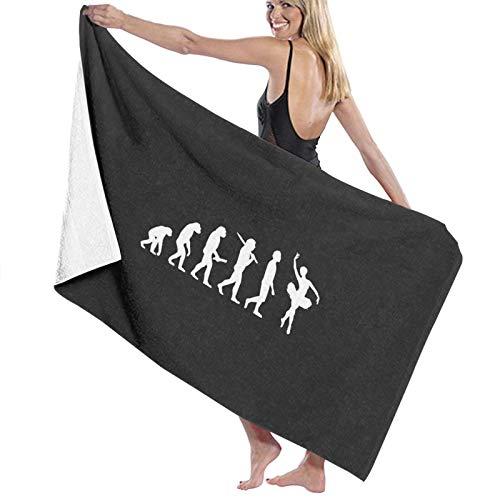 U/K Divertido regalo de evolución de ballet para bailarinas amplificadoras; toalla de baño de ballet de secado rápido