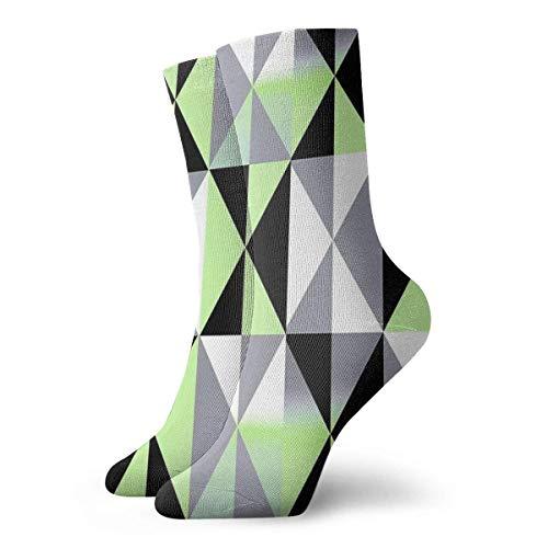 Agender Pride Triangle Gradients Pattern Calcetines Clásico Ocio Adecuado para hombres Mujeres Medias deportivas Calcetines cortos Calcetines deportivos Calcetines cómodos transpirables Casuales 30cm