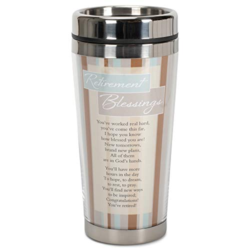 Retirement Blessings Brown Stripes 16 ounce Stainless Steel...