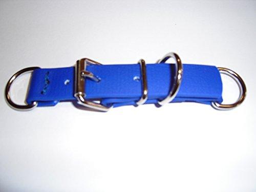 Angel for Pets MJH BioThane Halsband Verschluss Adapter verstellbar 16mm breit versch. Farben (blau)