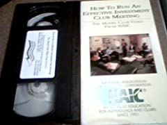 Vhs Tape Made by N.A.I.C. How to Run An Effective Investment Club Meeting Great For Investors Hard to find