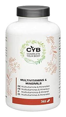 CYB Multivitamin & Minerals, 365 tablets
