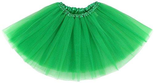 traderplus Women's Vintage 1950s Tutu Petticoat Ballet Bubble Dance Skirt Short Pettiskirts (Green)