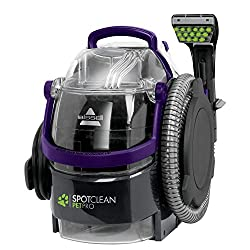 The BISSELL SpotClean Pet Pro is a powerful emergency spot cleaner, which quickly and easily lifts away spots, spills and stains from carpets, sofas, pet beds, cars interiors and more. Large capacity easy to fill and empty tanks - Easy grip, flat fil...