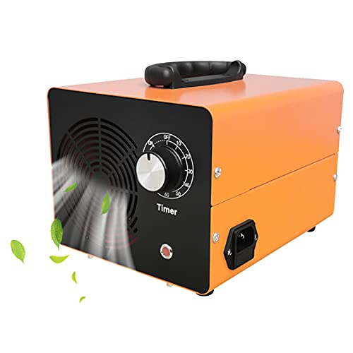RDJSHOP Commercial Ozone Generator, Portable Home Deodorizer Sterilizer for Bathroom, Bedroom, Office, Hotel, Professional O3 Air Purifier with Timer, Plug in UK,Orange-5000mg/h