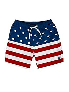 Tipsy Elves American Flag Swim Trunks  XXL