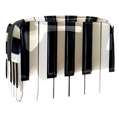 Bolsa de maquillaje portátil con cremallera bolsa de aseo de viaje para mujeres práctico almacenamiento cosmético bolsa de piano antiguo