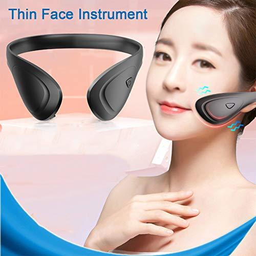 DNNAL Masseur électrique en V, Masseur de Visage Instrument de Levage Facial Rechargeable Intelligent portatif de Levage raffermissant de Levage,Noir