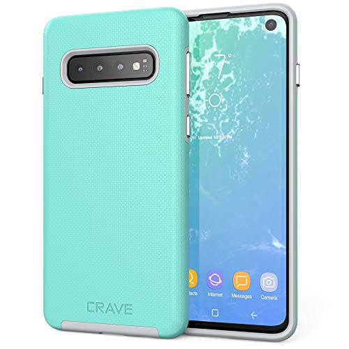 Crave Dual Guard for Samsung Galaxy S10 Case, Shockproof Protection Dual Layer Case for Samsung Galaxy S10 - Mint