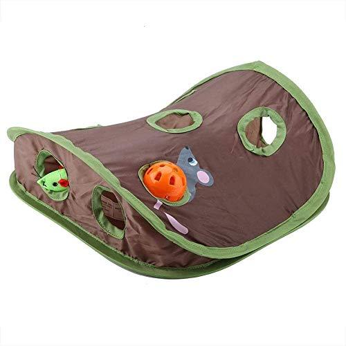 gongxi Katzenspielzeug 9 Mauselöcher Haustier Katze Interaktives Spielzeug Intelligenz-Training Mit Bell Ball Folding Kreative Vokal Katzenmäuse Spielzeug Verstecken Suchspielzeug