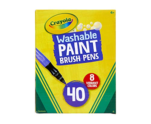 Crayola Paint Brush Pens, Washable Paints, 8 Colors, 40 Count