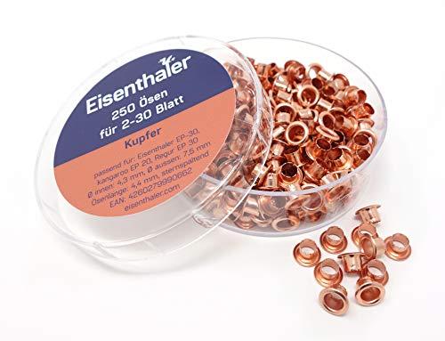 250 farbige Ösen EFC-30 f. EP-20, EP-30 & Eisenthaler ET-30 Ösgeräte, Farbe:Kupfer