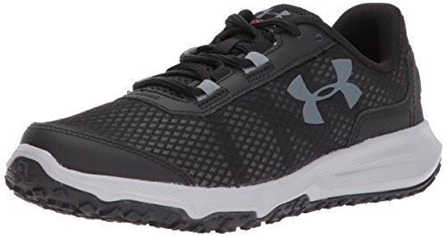 Under Armour Women's Toccoa Running Shoe, Black (002)/Overcast Gray, 10.5
