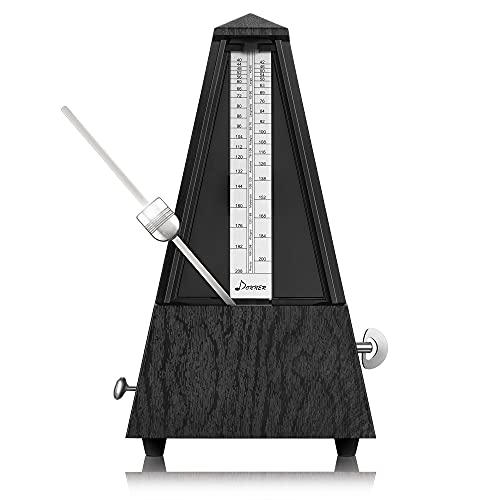 Donner Mechanical Metronome DPM-1 For Musician Guitar Piano Drum Violin Track Beat And Tempo Black
