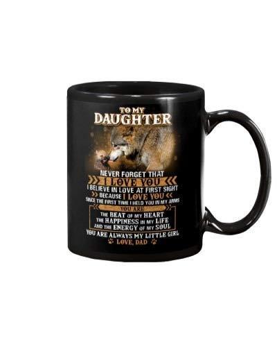 N\A Creo en el Amor a Primera Vista Regalo de papá Lobo Taza de café