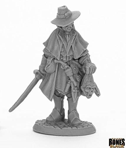 Reaper Miniatures Jakob Knochengard #44013 Bones Black Plastic Unpainted Figure