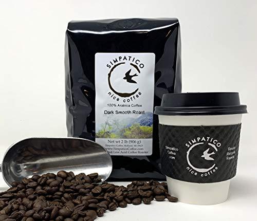 Simpatico Low Acid Coffee - Regular - Dark - Whole Bean (2 pound bag)
