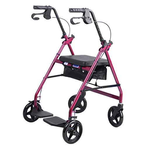 SXFYQ multifunctionele wandelhulp met inklapbare voetensteun en grote opbergtas. Opvouwbare loophulp voor ouderen.