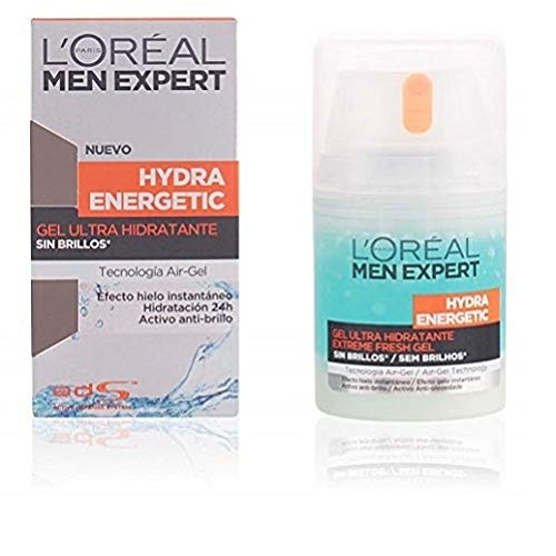 L'Oréal Paris Men Expert Hydra Energetic Gel Hidratante Anti-Brillo, 50 ml