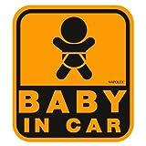 ナポレックス 車用 サイン セーフティーサイン BABY IN CAR ステッカータイプ(外貼り) 損害保険付 SF-26