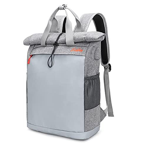 EverVanz Zaino per laptop Donna e uomo Zaino leggero con chiusura a rullo Resistente all'acqua Viaggio Escursionismo Daypack Elegante borsa casual da scuola all'aperto con porta di ricarica USB