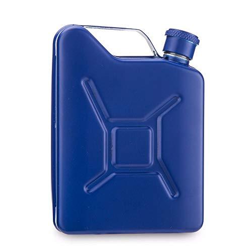 Petacas De Alcohol Astilla o el brazo verde o azul acero inoxidable Bidón Hip embudo frasco o matraz con aceite gratuito (Color : Blue)