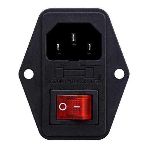 3 Pin IEC320 C14 Inlet Modul Steckdose Schalter Stecker Strom Steckdose 10A 250V